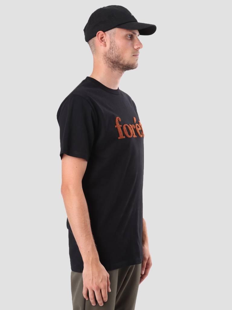 Foret Foret Log T-Shirt Black Brick F051