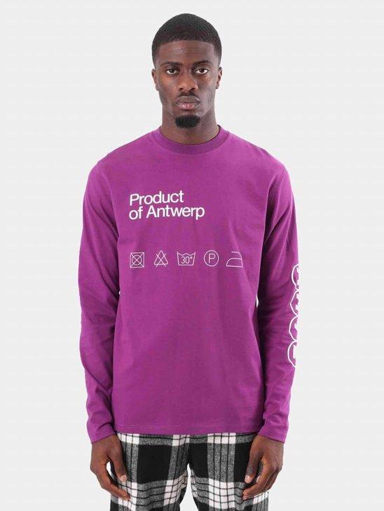 Arte Antwerp Tommy T-Shirt Purple AW18-009