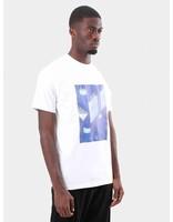 Arte Antwerp Arte Antwerp Tony Blue Print T-Shirt White AW18-007