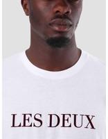 Les Deux Les Deux T-Shirt White Burgundy LDM101001