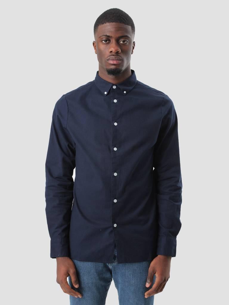 RVLT RVLT Oxford Shirt Navy 3004