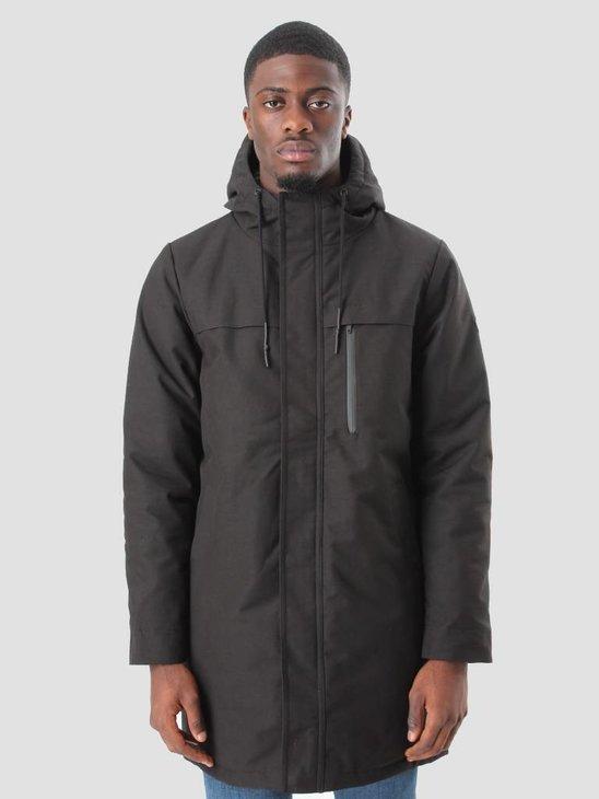 RVLT Snaps Longer Jacket Heavy Black 7510