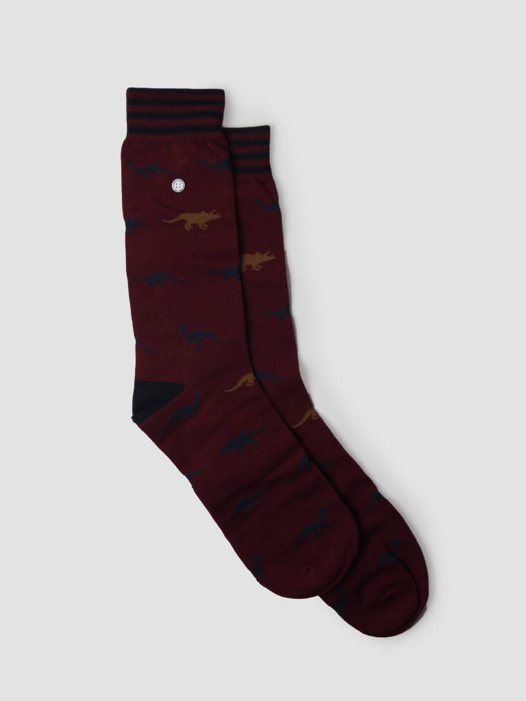 Alfredo Gonzales Alfredo Gonzales 3 Pack Giftbox Socks Red AG-3P-RED