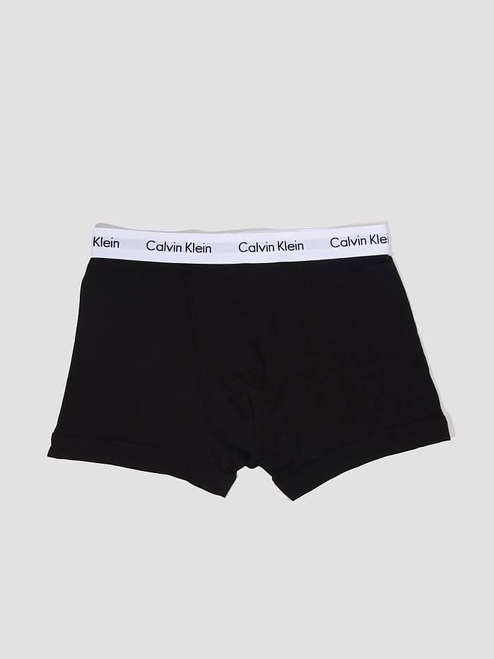 Calvin Klein Calvin Klein 3 Pack Cotton Stretch Trunk Black U2662G