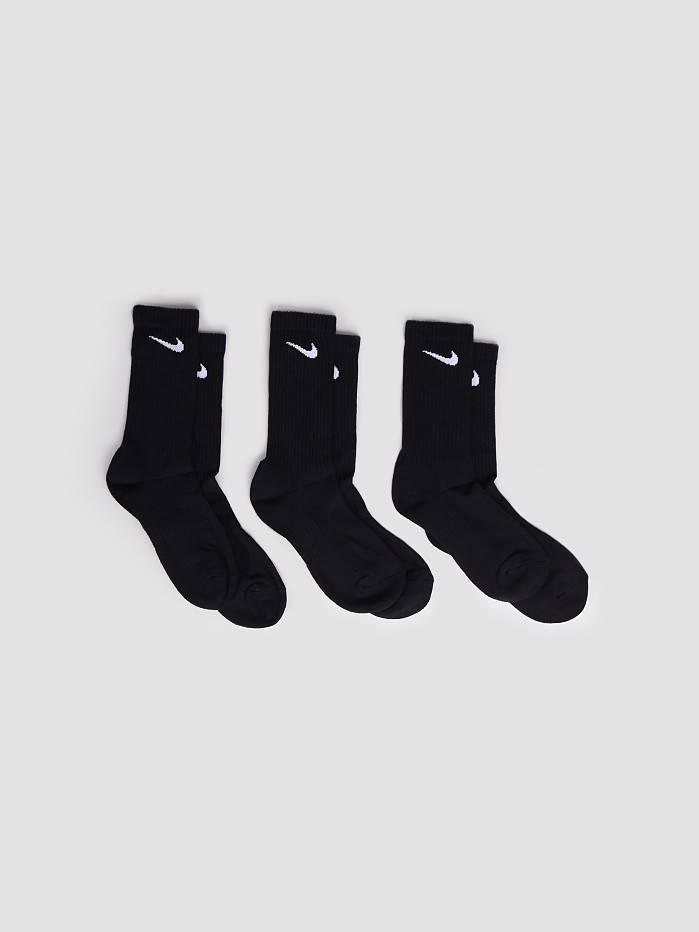 Nike Nike 3 Pack Lightweight Crew Socks Black White SX4704-001