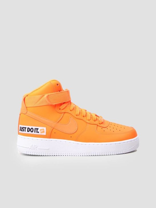 Nike Air Force 1 High LX Leather Total Orange Total Orange-White BQ7925-800