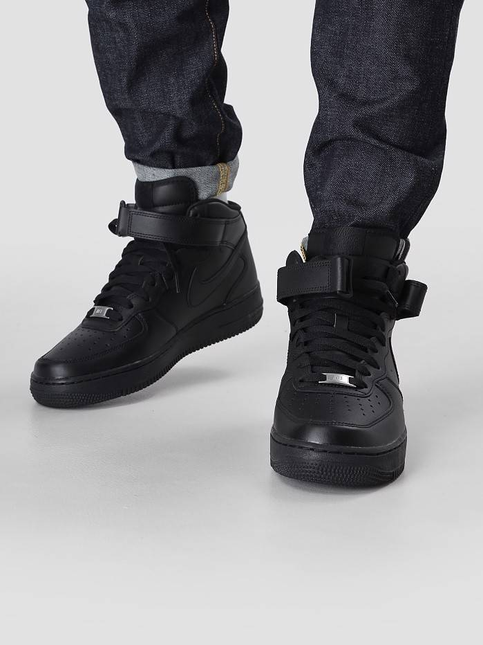 sale retailer ee3e2 f7f5c Nike Nike Air Force 1 Mid 07 Black 315123-001