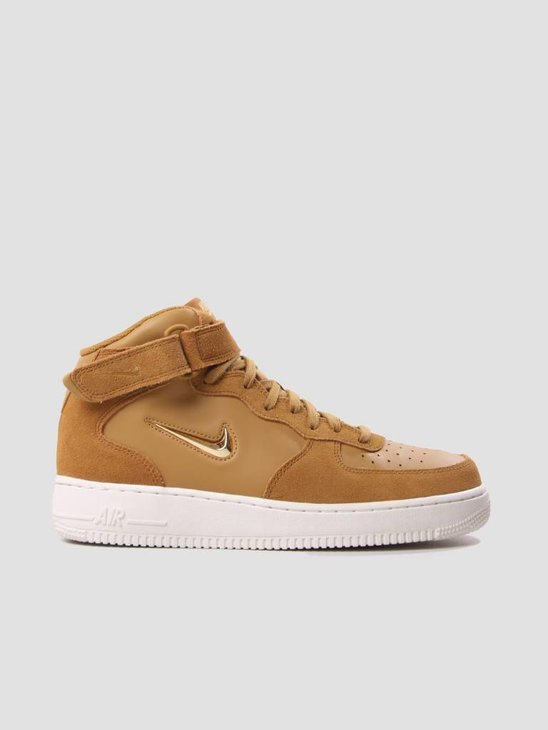 Nike Air Force 1 Mid 07 LV8 Shoe Muted Bronze Metallic Gold-Summit White 804609-200