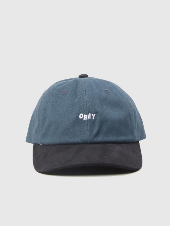 Obey 90s Jumble Bar 6 Panel Snapback Dark Teal Black 100580076