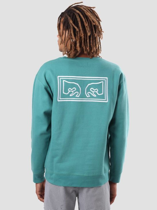 Obey Obey Eyes Heavy Crew Dusty Teal 112480010