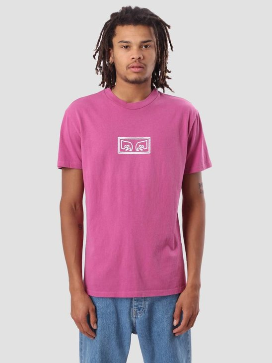 Obey Obey Eyes Outline Basic Pigment T-Shirt Dusty Magenta 166721754