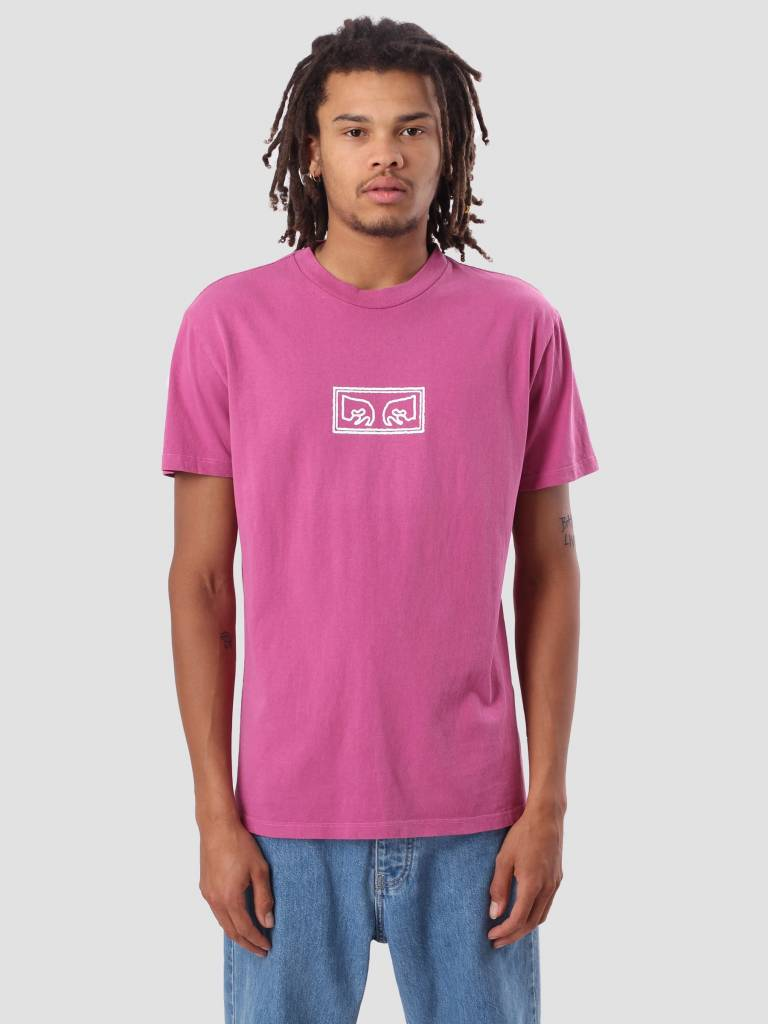 Obey Obey Obey Eyes Outline Basic Pigment T-Shirt Dusty Magenta 166721754