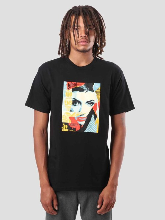 Obey Obey Ideal Power T-Shirt Black 163081778