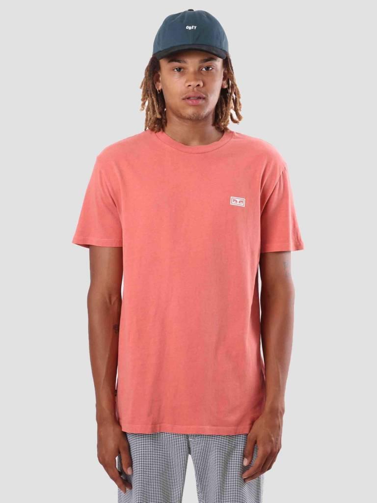 Obey Obey Obey Jumble Lo-Fi T-Shirt Dusty Dark Rose 166721489