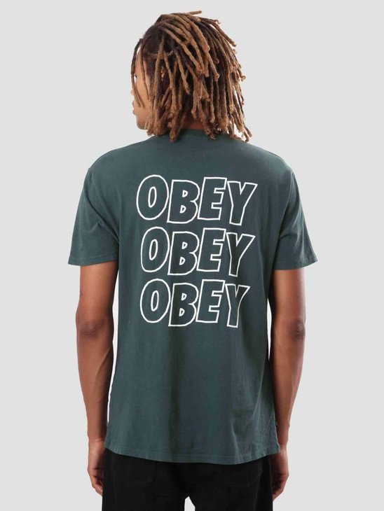 Obey Obey Jumble Lo-Fi T-Shirt Dusty Dark Teal 166721489