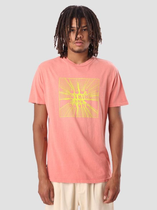 Obey Obey Nothing Basic Pigment T-Shirt Dusty Coral 166721728