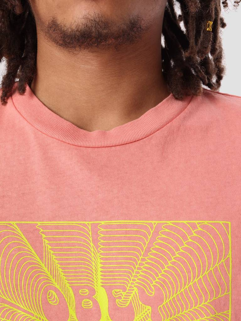 Obey Obey Obey Nothing Basic Pigment T-Shirt Dusty Coral 166721728