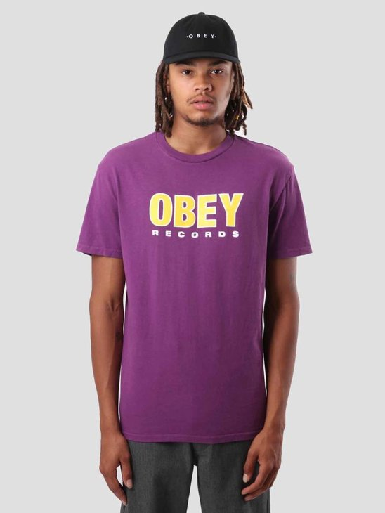 Obey Obey Records 2 T-Shirt Dusty Grape 166721786