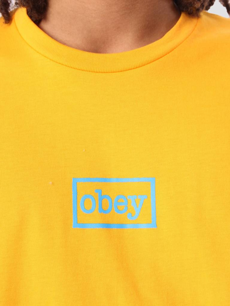 Obey Obey Obey Typewritter Basic T-Shirt Gold 163081657