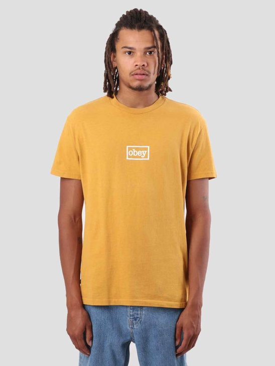 Obey Obey Typewritter T-Shirt Dusty Gold 166721657