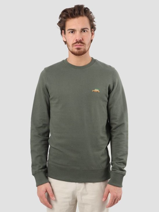 RVLT 3D Effect Print Sweater Army 2539 Wag