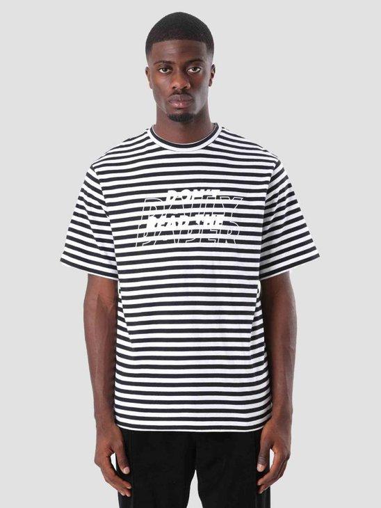 Daily Paper Doam T-Shirt Black White Stripe 18F1TS22