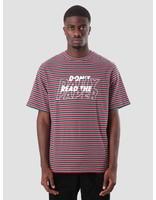 Daily Paper Daily Paper Doam T-Shirt Dark Green Dark Red White Stripe 18F1TS24