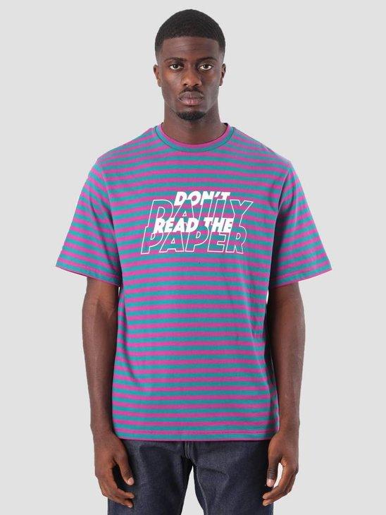 Daily Paper Doam T-Shirt Petrol Pink Stripe 18F1TS23