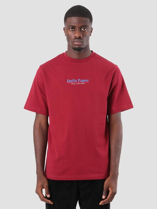 Daily Paper Duk T-Shirt Dark Red 18F1TS04