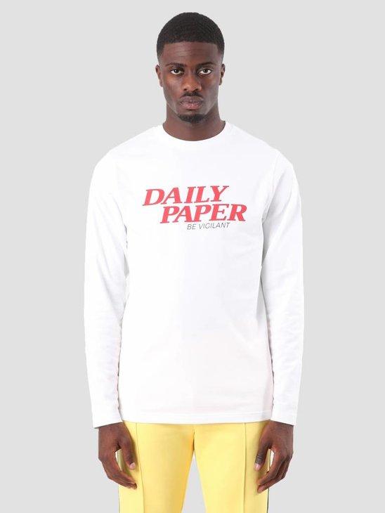 Daily Paper Desra Longsleeve White 18F1TL13