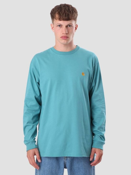 Carhartt Chase Longsleeve Soft Teal Gold I022923-71590