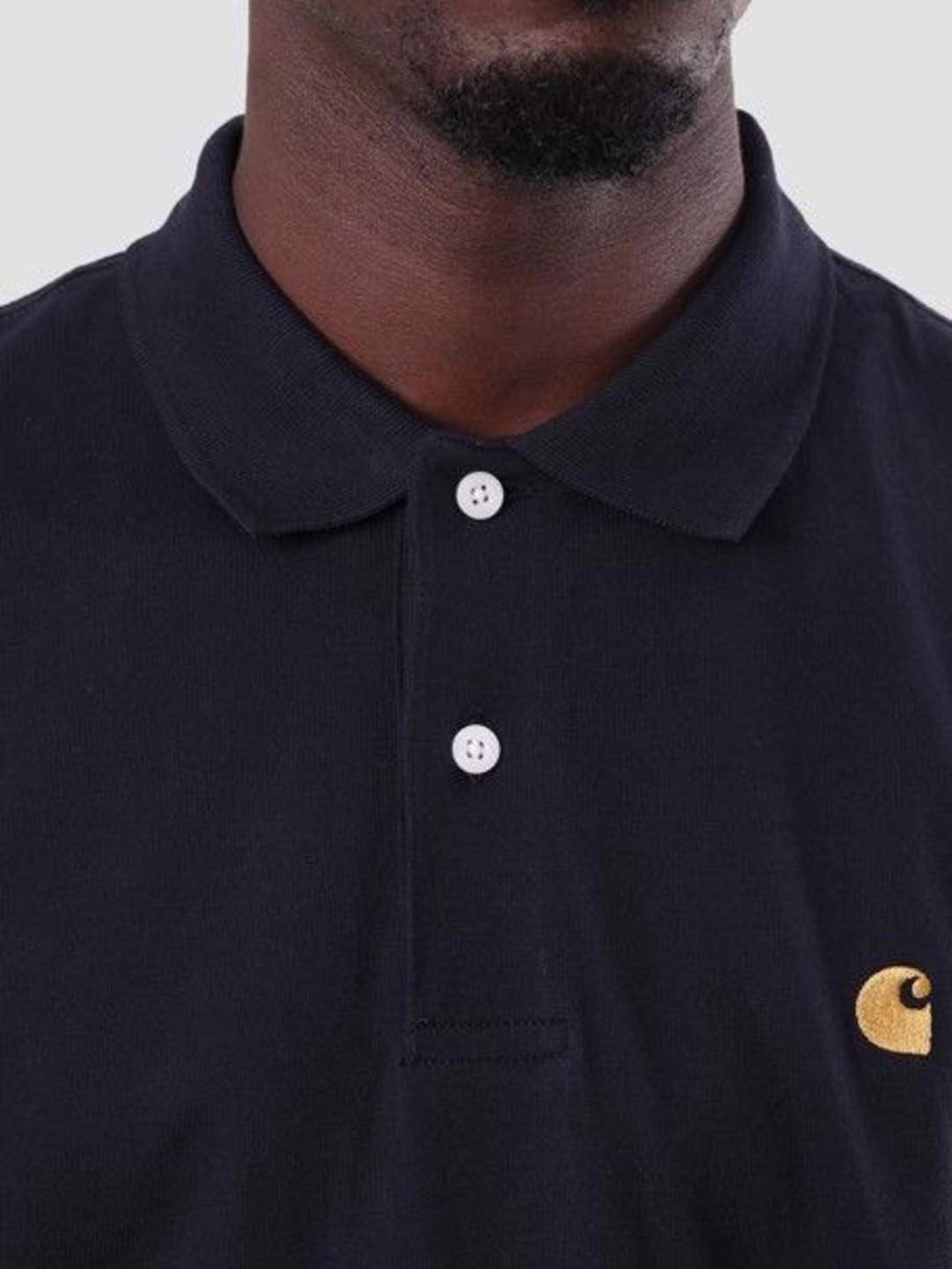 Carhartt WIP Carhartt WIP Chase Polo Dark Navy Gold I026393-1C90
