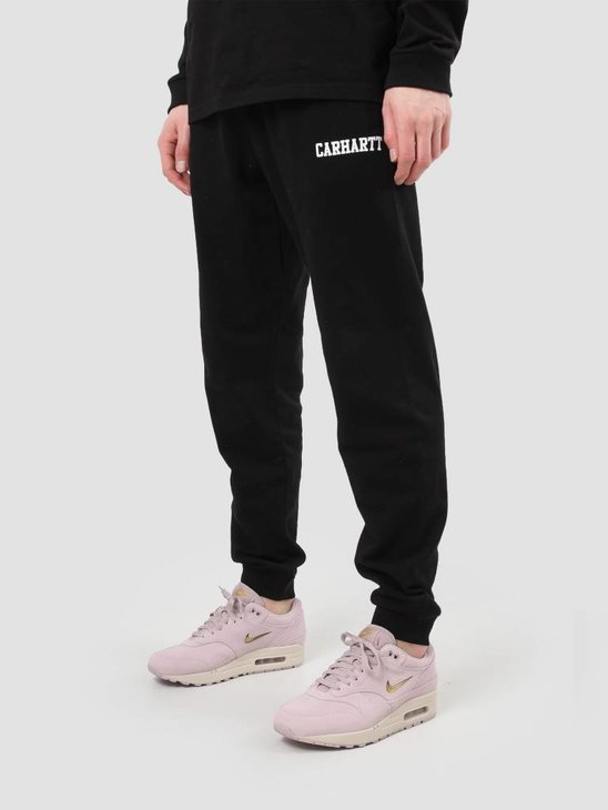Carhartt WIP College Sweat Pant Black White I024672-8990