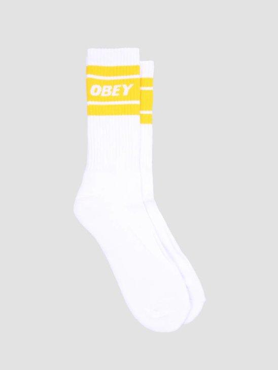 Obey Cooper II Socks White Lemon 100260093