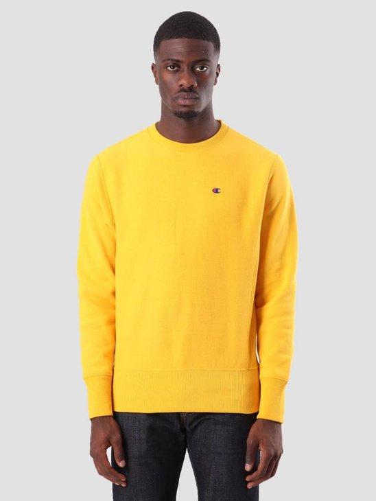Champion Crewneck Sweatshirt Yellow CUY YS026 212572
