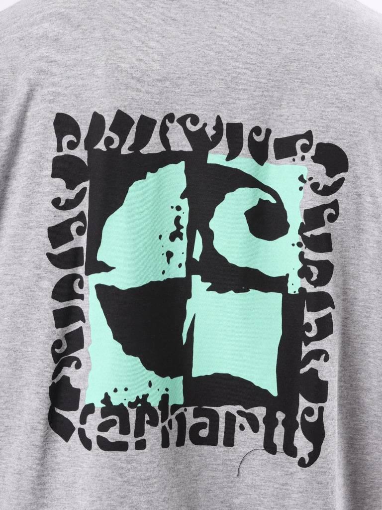 Carhartt Carhartt Cut Out Longsleeve Grey Heather I025772-V600