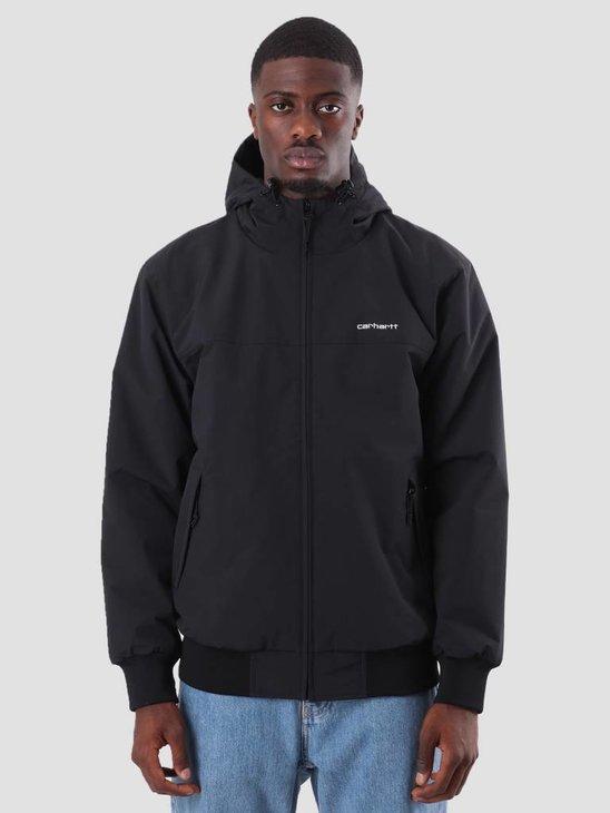 Carhartt Hooded Sail Jacket Black White I022721-8991