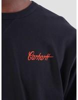Carhartt Carhartt Spill Script Longsleeve Dark Navy Persimmon I025332-1C90