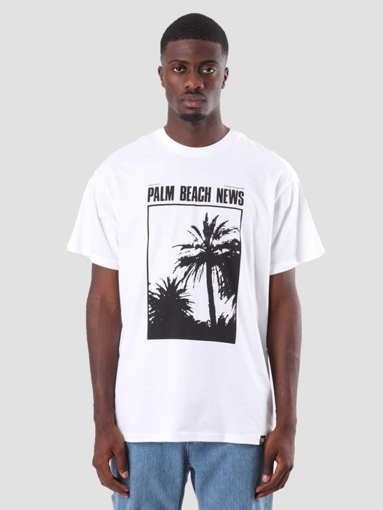 Carhartt WIP TVC Palm Beach News T-Shirt White Black I026013-290