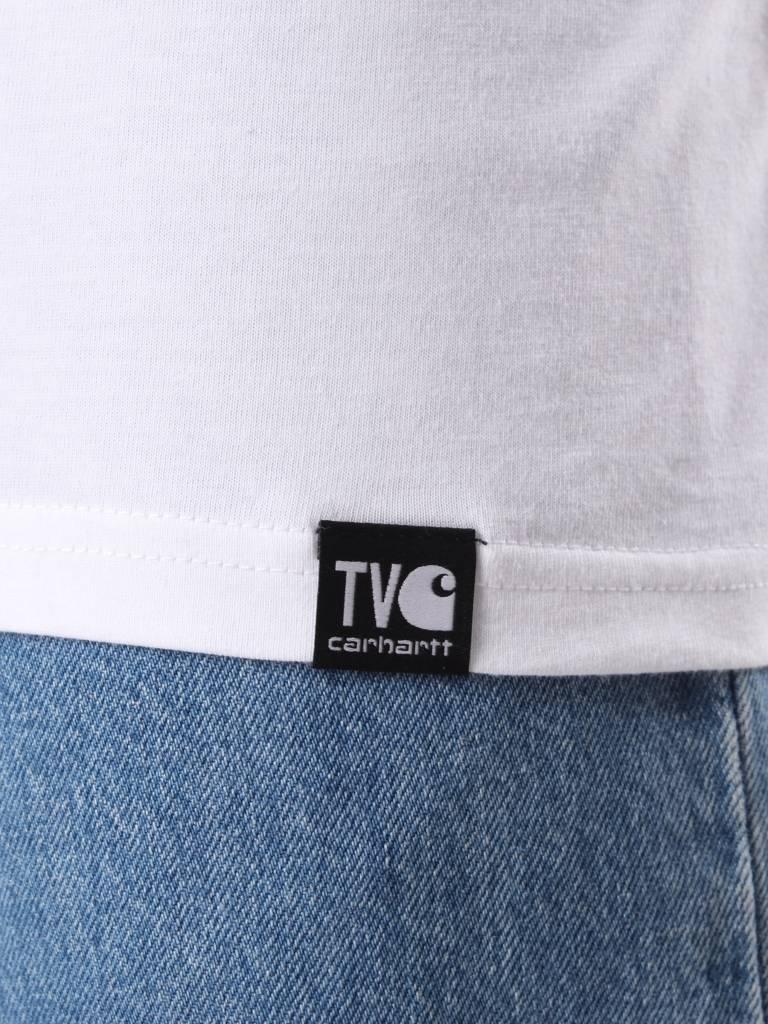 Carhartt WIP Carhartt WIP TVC Palm Beach News T-Shirt White Black I026013-290