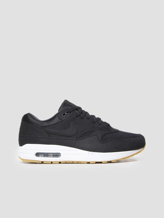 Nike Air Max 1 Shoe BlackBlack-Gum Light Brown 319986-037