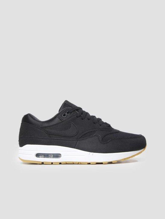 Nike Womens Air Max 1 Shoe BlackBlack-Gum Light Brown 319986-037