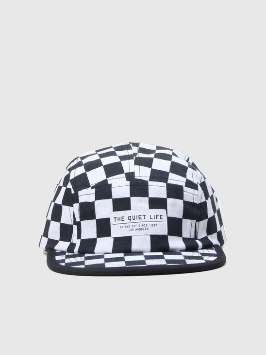 The Quiet Life Checker 5 Panel Camper Hat All Over 18FAD1-1202-ALLOVER