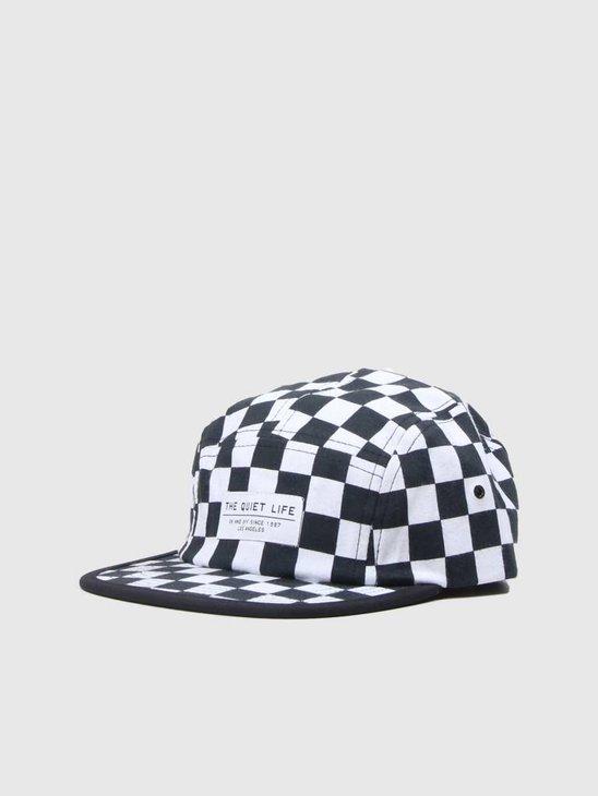 The Quiet Life Checker 5 Panel Camper Hat All Over 18FAD1-1202-ALLOVER