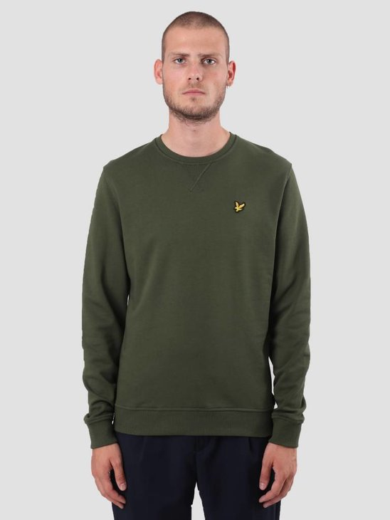 Lyle and Scott Crew Neck Sweatshirt Woodland Green ML424VTR