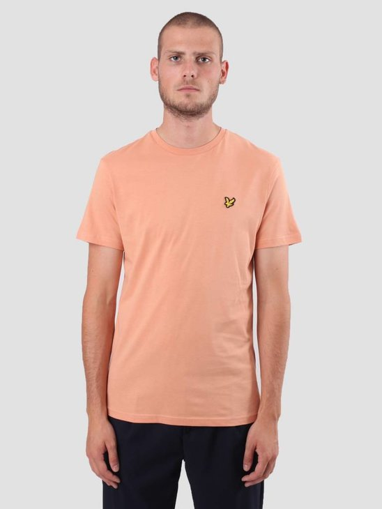 Lyle and Scott Crew Neck T-Shirt Dusky Coral TS400V