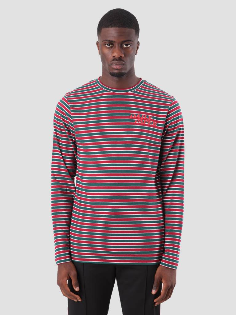 Daily Paper Daily Paper Daso Longsleeve Dark Red Dark Green White Stripe 18F1TL18