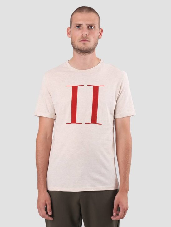 Les Deux Encore T-Shirt Light Brown Mel Brick Red LDM101006