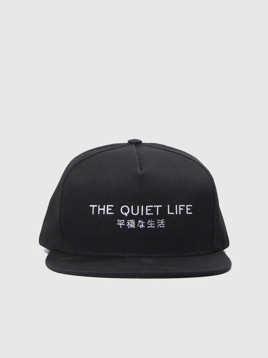 The Quiet Life Japan Snapback Hat Black 18FAD1-1211-BLK
