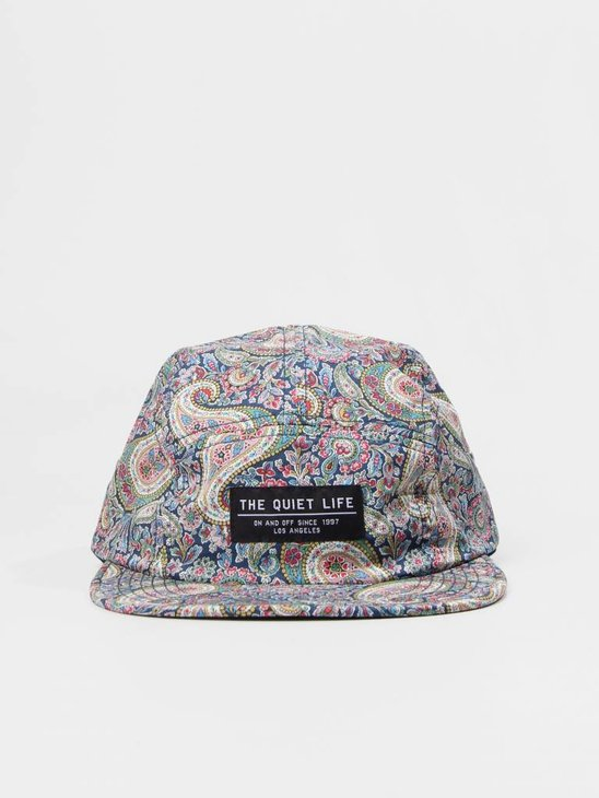 The Quiet Life Liberty Paisley 5 Panel Camper Hat Multi Color 18FAD1-1198-MULTI